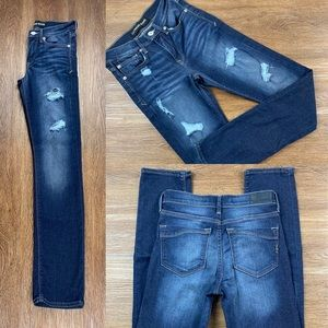 NWOT EXPRESS MID RISE CROPPED SKINNY JEANS